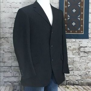 BILLY LONDON Blazer 42R Pinstripe 3 Button